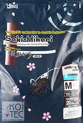 SAKI HIKARI GROWTH SINKING M ca. 6mm 3 KG. Das Koifutter für die Champions - 1