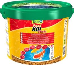 Tetra Pond Koi Sticks (schwimmfähiger Futtersticks speziell für Koi), 10 Liter Eimer Beutel - 1