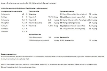 4,2 kg(10L) Karashi Premium Koifutter 3mm - Premiumfutter, bestes Koifutter mit idealem Protein/Fett Gehalt - 2