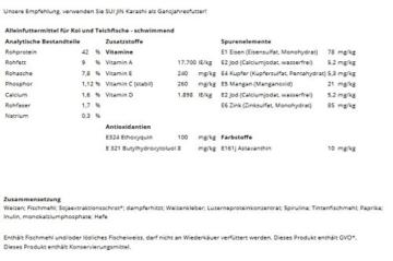 4,2 kg(10L) Karashi Premium Koifutter 6mm - Premiumfutter, bestes Koifutter mit idealem Protein/Fett Gehalt - 2