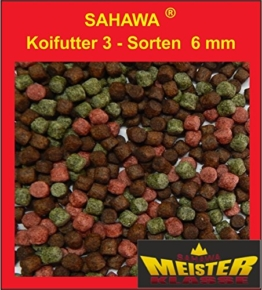 Koifutter 6 mm 3 Sorten Spezialmix 15 Kg - 1