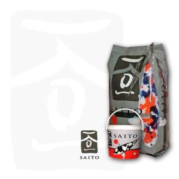 Saito Professional Koischwimmfutter, Premium Koifutter für höchste Ansprüche, für Mega Wachstum, schöne Körperproportionen und leuchtende Farben bei Koi aller Varietäten, 5kg Eimer, 5mm Koipellets - 1
