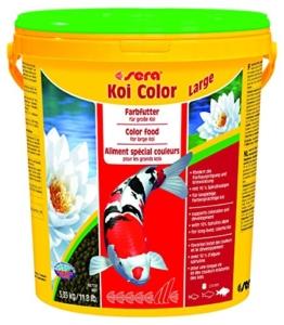 Sera 07028 KOI COLOR LARGE 21 l - Farbfutter für langlebige, farbenprächtige Koi ab 25 cm - 1