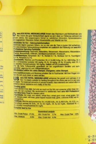 Sera 07123 KOI ROYAL MEDIUM 21 l - Hauptfutter für ein ausgewogenes Wachstum von Koi zwischen 12 und 25 cm - 3