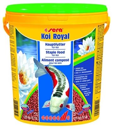 Sera 07130 KOI ROYAL LARGE 21 l - Hauptfutter für große KOI - hochwertige, schwimmfähige Pellets in 6 mm - 1