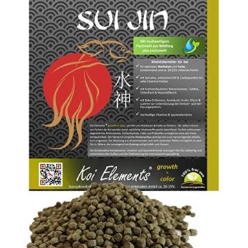 SUI JIN Teichprodukte 12,5kg Koi Elements - growth & color Wachstum u. Farbe Koifutter - 1
