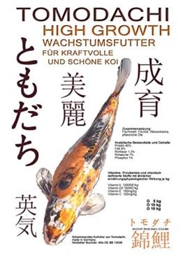 Kraftfutter für Koi, bringt Mega Wachstum,Tomodachi High Growth Wachstumsfutter, Koi Aufzuchtfutter 6mm Koipellets, Kraftfutter für junge, aktive Koi, 5kg - 1