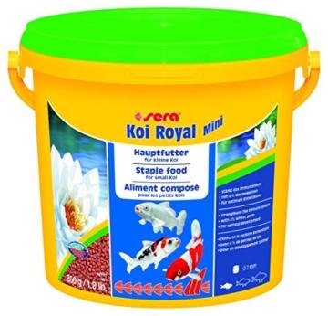 Sera 07112 KOI ROYAL MINI 3800 ml - Hauptfutter für die optimale Entwicklung von Koi bis 12 cm - 1