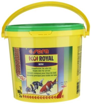 Sera 07112 KOI ROYAL MINI 3800 ml - Hauptfutter für die optimale Entwicklung von Koi bis 12 cm - 5