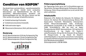 Koi-Futter für Frühjahr & Herbst, schwimmend, 6mm, 3kg - für Gesundheit, Nährstoffversorgung, Kondition & Belastungsfähigkeit - auch für Gold-Fische - 2