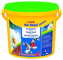 sera 07117 KOI ROYAL MEDIUM 3800 ml - Hauptfutter für ein ausgewogenes Wachstum von Koi zwischen 12 und 25 cm - 1