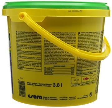 sera 07117 KOI ROYAL MEDIUM 3800 ml - Hauptfutter für ein ausgewogenes Wachstum von Koi zwischen 12 und 25 cm - 4