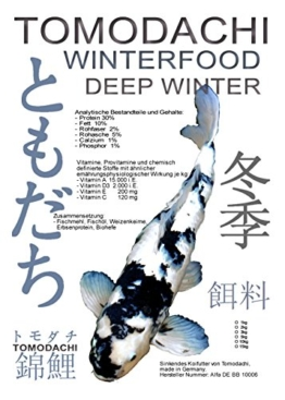 Winterfutter für Koi in Winterruhe, Koisinkfutter Tomodachi Winterfood Deep Winter, 5kg - 1
