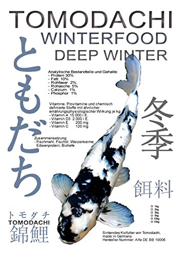 Winterfutter für Koi in Winterruhe, Koisinkfutter Tomodachi Winterfood Deep Winter, 5kg - 1