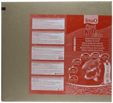 Tetra Pond Koi Sticks Hauptfutter (in Form hochwertiger, schwimmfähiger Futtersticks speziell für Koi entwickelt), 50 liters Beutel - 3