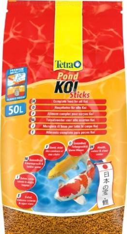 Tetra Pond Koi Sticks Hauptfutter (in Form hochwertiger, schwimmfähiger Futtersticks speziell für Koi entwickelt), 50 liters Beutel - 1