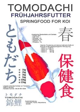 Koifutter für das Frühjahr von Tomodachi, energiereiches, langsam sinkendes Frühjahrsfutter für Koi, 15kg - 1