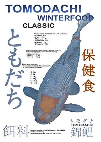 Tomodachi Koifutter, Winterfutter Koi, Sinkfutter Koi, Winterfood Classic langsam sinkendes Winterfutter für Koi 5kg, 5mm Koipellets - 1