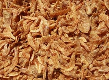 Riesengarnelen, Sommerfutter für Koi, Tomodachi XXL Shrimps, getrocknete gigantisch große Süßwassergarnelen 3-5cm, Tomodachi Koileckerli, optmal für die Handfütterung der Koi im Sommer, für vitale, zahme und zutrauliche Koi, 5 Liter Eimer - 4