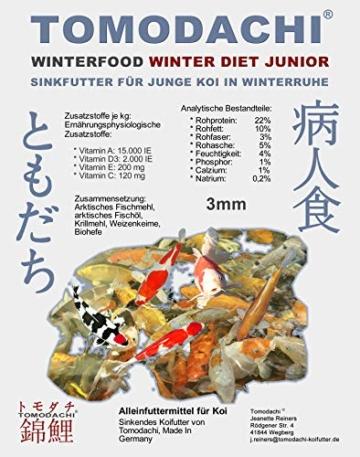Koifutter, Sinkfutter für Junge Koi im Winter, Winterfutter für den Koinachwuchs, schnell sinkend, kräfteschonend, hochverdaulich, energiereich mit arktischen Rohstoffen, Winter Diet Junior, 3mm 1kg - 1