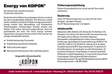 KOIPON Koifutter Winter, sinkend, 5-6mm, 3kg, extrem energiehaltiges Sinkfutter, frisch in Deutschland produziert - Koi Futter auch für Frühling - 2