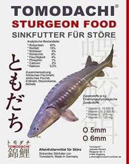 Tomodachi Störfutter energiereich, hochverdaulich, Qualitätsfutter Stör, sinkendes Kraftfutter, Aufzuchtfutter für Störe, ideal für jede Jahreszeit dank arktischer Rohstoffe, Störsinkfutter 5mm 5kg - 1