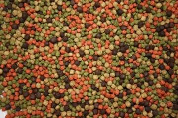 Koifuttermischung, Koifutter, Schwimmfutter, Premium Koimix 2 Color, 3 Color oder 4 Color; Teichfuttermix, Spirulina, Astax, Paprika, Krillmehl, Tomodachi SenSui KoifutterMix 15kg (4Color rot-grün-weiß-braun, 3mm Pelletgröße und 5mm Pelletgröße gemischt) - 3