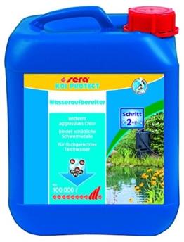 Sera 07218 KOI PROTECT 5000 ml für 100.000 Liter Teichwasser - Der optimale Schutz wertvoller Koi und Kaltwasserfische - 1