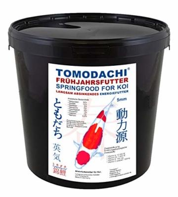Tomodachi Frühjahrsfutter, Energiefutter Koi, langsam sinkendes Koifutter mit arktischem Fischmehl, Fischöl, Krillmehl, sehr energiereich, hochverdaulich auch bei Kälte, Frühjahrsfutter 5mm 3kg Eimer - 1