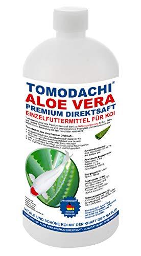 Aloe Vera für Koi, Koifutterzusatz, Aloevera Premium Direktsaft, gut für Immunsystem, Stoffwechsel, Verdauung, bessere Futterverwertung, geringere Wasserbelastung, Wachstum und Vitalität der Koi, 1L - 1