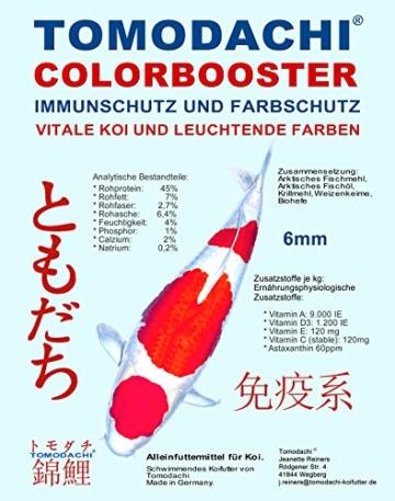 Tomodachi Koifutter energiereich, schwimmend, Wachstumsfutter, Farbe u. Immunschutz mit arktischem Fischmehl und Fischöl - hohe Futterverwertung, geringe Wasserbelastung, Colorbooster 2kg 6mm - 1