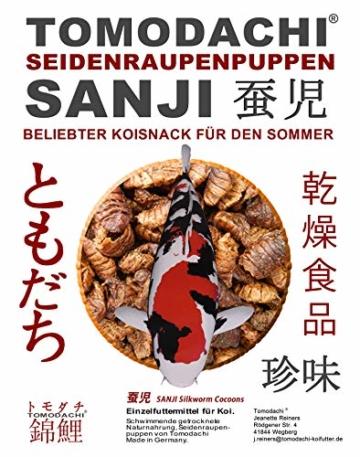 Tomodachi Seidenraupenpuppen, Silkworm, Naturnahrung getrocknet, Sanji Seidenraupen, proteinreich, gesunder Koisnack für die Handfütterung im Sommer - Vitale, schöne, handzahme Koi 10L Eimer - 7