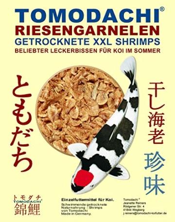 Tomodachi Sommerfutter für Koi, Garnelen, Koi Gambas, Riesen Shrimps, getrocknete große Süßwassergarnelen, Koifutter Naturnahrung, gesunder, Koisnack für die Handfütterung der Koi im Sommer 3L Eimer - 6