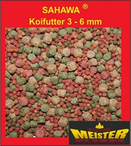 Koifutter 3 -6 mm 5 Sorten Spezialmischung 15 kg - 1