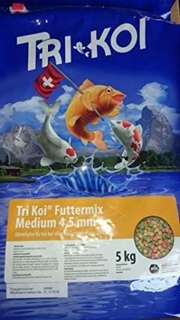 Tri Koi Futtermix ab 15° C - Koifutter aus der Schweiz - 4-5 mm (5 kg) - 1