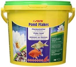 sera 07075 pond flakes 3800 ml - das lange schwimmende Flockenfutter für kleinere Teichfische - 1