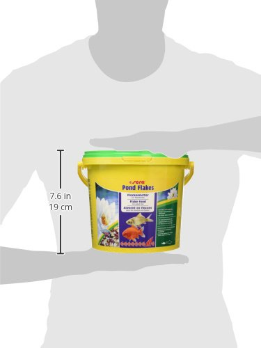 sera 07075 pond flakes 3800 ml - das lange schwimmende Flockenfutter für kleinere Teichfische - 10
