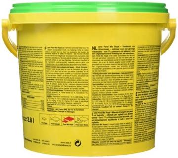 sera 07102 pond mix royal 3800 ml - Futtermischung aus Flocken, Sticks und mit 7 % Gammarus als Leckerbissen für alle Teichfische - 4