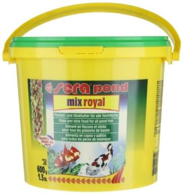 sera 07102 pond mix royal 3800 ml - Futtermischung aus Flocken, Sticks und mit 7 % Gammarus als Leckerbissen für alle Teichfische - 9