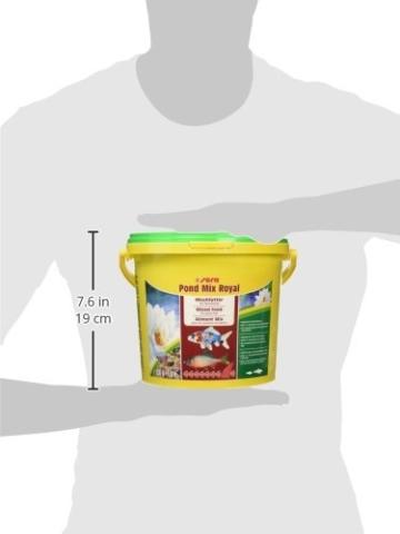 sera 07102 pond mix royal 3800 ml - Futtermischung aus Flocken, Sticks und mit 7 % Gammarus als Leckerbissen für alle Teichfische - 10