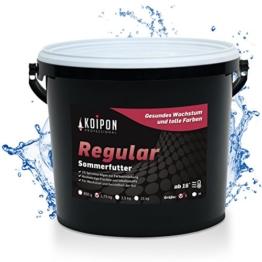 KOIPON Koi-Futter Regular für Frühling Sommer Spätsommer, 3mm, 1,75 kg - Hochwertiges Schwimmfutter für Starkes Wachstum, Farbverstärkung & gesunde Fische - auch für Goldfische - 1