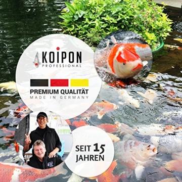 KOIPON Pon-Pellets Ganzjahresfutter 3 mm schwimmend in 1,75 kg - hochwertiges Futter für ganzjährige Fütterung zur Entlastung der Kiemen für alle Teichfische Zierfische wie Koi Karpfen Stör - 4