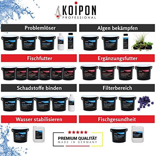 KOIPON Pon-Pellets Ganzjahresfutter 3 mm schwimmend in 1,75 kg - hochwertiges Futter für ganzjährige Fütterung zur Entlastung der Kiemen für alle Teichfische Zierfische wie Koi Karpfen Stör - 5