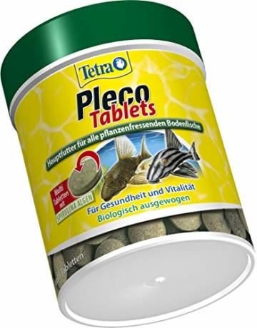 Tetra Pleco Tablets (Grünfutter-Tabletten mit einem hohen Anteil an Spirulina-Algen, Hauptfutter für alle pflanzenfressenden Bodenfische und scheuen Zierfische), 275 Tabletten Dose - 3