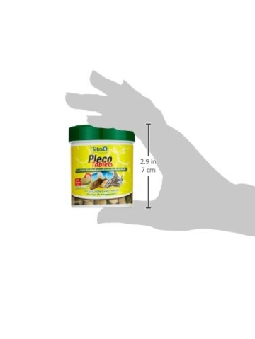 Tetra Pleco Tablets (Grünfutter-Tabletten mit einem hohen Anteil an Spirulina-Algen, Hauptfutter für alle pflanzenfressenden Bodenfische und scheuen Zierfische), 275 Tabletten Dose - 8