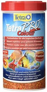 Tetra Pro Colour Premiumfutter (für alle tropischen Zierfische, Farbkonzentrat für hervorragende natürliche Farbausprägung, hoher Gehalt an Carotinoiden für farbverstärkende Wirkung), 500 ml Dose - 1