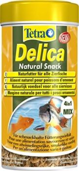 TetraDelica Natural Snack 4-in-1-Mix, Naturfutter-Mischung vier separaten Fächern für alle Zierfische, 250 ml Dose - 1