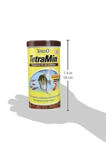 TetraMin (Hauptfutter für alle Zierfische in Flockenform, für ein langes und gesundes Fischleben und klares Wasser, plus Präbiotika für verbesserte Körperfunktionen und Futterverwertung), 1 Liter Dose - 8