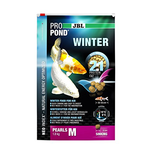 JBL Winterfutter für Koi, Sinkende Futterperlen, Saisonfutter, ProPond Winter, Größe M, 1,8 kg - 2