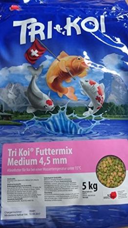 Tri Koi Futtermix kalt - Koifutter für die kalte Jahreszeit - 4,5 mm - 5 kg - 1